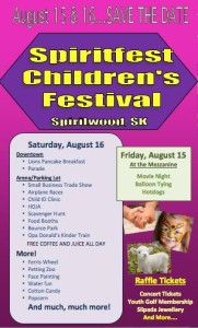 Spiritfest Children's Festival @ Spiritwood & District Recreation Centre
