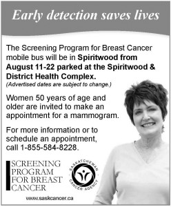 Mobile screeing program for Breast Cancer  @ SPBC (Screening Program for Breast Cancer) | Spiritwood | Saskatchewan | Canada