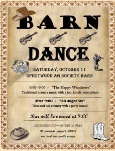 Barn Dance @ Spiritwood Ag Society Barn