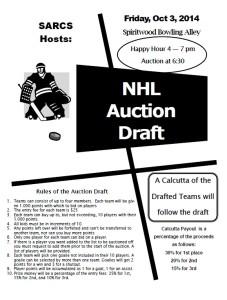 Hockey  Draft Auction Poster