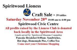 Lioness Craft Sale @ Civic Centre
