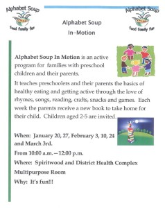 Alphabet Soup In-Motion @ Spiritwood & Dist. Health Complex