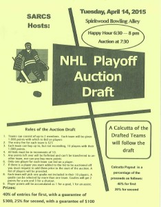 NHL Playoff Auction Draft @ Spiritwood Bowling Alley