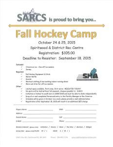 Fall Hockey Camp 2015