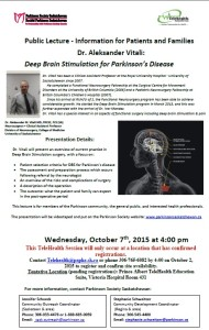 Public Lecture RE Parkinsons