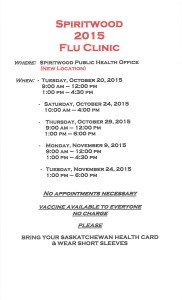 Spiritwood Flu Clinic