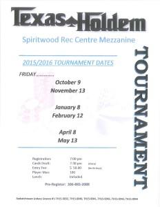 Texas Holdem @ Spiritwood Rec Centre Mezzanine