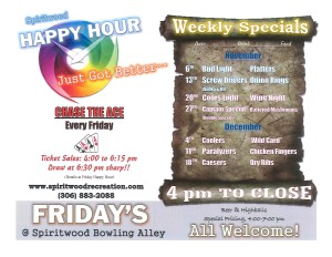 Happy Hour @ Spiritwood Bowling Alley