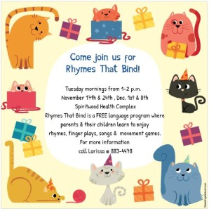 Rhymes That Bind @ Spiritwood Health Complex