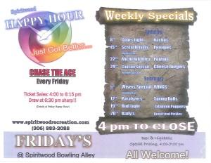 Happy Hour @ Spiritwood Rec Mezzanine