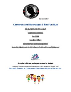 Cameron and Bourdages 5km Fun Run @ SadSacc Park