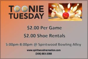 Toonie Tuesday @ Spiritwood Bowling Facility