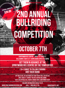 2nd Annual Bull Riding Event @ Spiritwood  Rec Centre