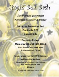 Cameron and Bourdages Memorial Society Dinner / Auction