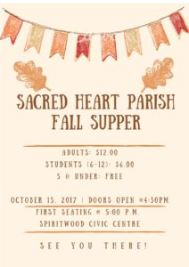 Sacred Heart Parish Fall Supper