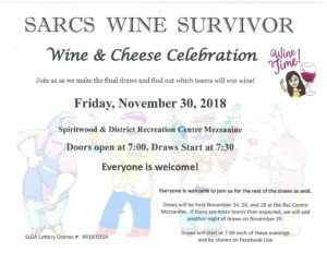 SARCS Wine & Cheese Celebration @ Rec Centre Mezzanine