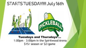 Pickleball @ Spiritwood Arena