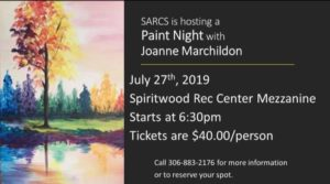 Paint Night with Joanne Marchildon @ Spiritwood Rec Centre Mezzanine