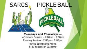 Pickleball Afternoon Session @ Spiritwood Arena
