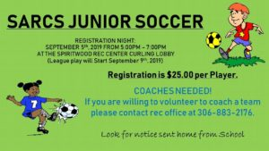 SARCS Junior Soccer Registration