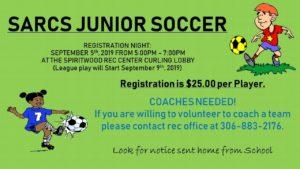 SARCS Junior Soccer Registration