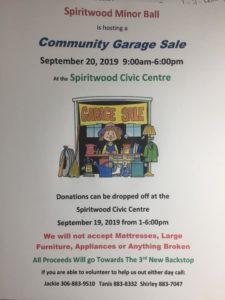 Minor Ball Community Garage Sale @ Spiritwood Civic Centre