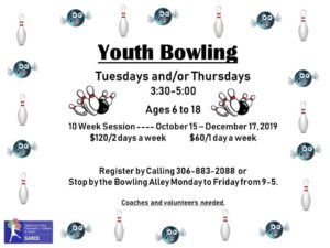 Youth Bowling @ Spiritwood Rec Centre - Bowling Alley