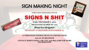 Sign Making Night @ Spiritwood Rec Centre - Mezzanine