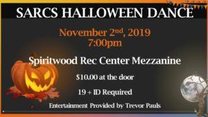 SARCS Halloween Dance @ Spiritwood Rec Centre - Mezzanine