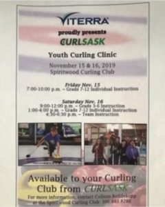 Youth Curling Clinic @ Spiritwood Rec Centre - Curling