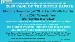 2020 Cash Lotto Draw